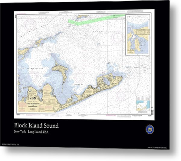 Block Island Sound Metal Print by Adelaide Images