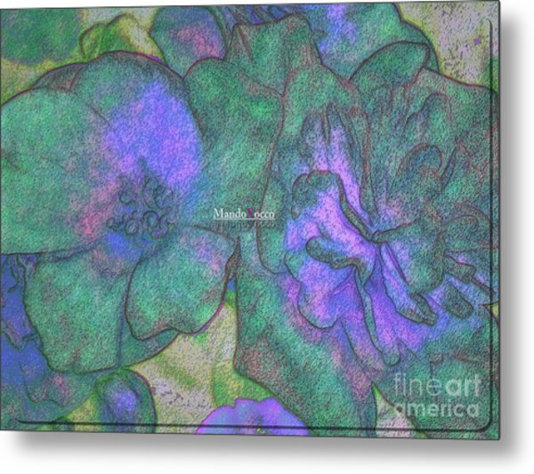 Blooms Metal Print by Mando Xocco