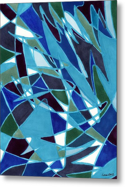 Blue Blaze Metal Print