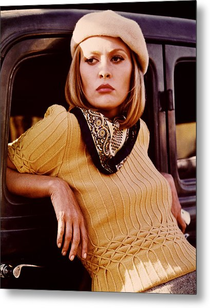 Bonnie And Clyde, Faye Dunaway, 1967 Metal Print by Everett