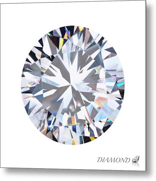 Brilliant Diamond Metal Print