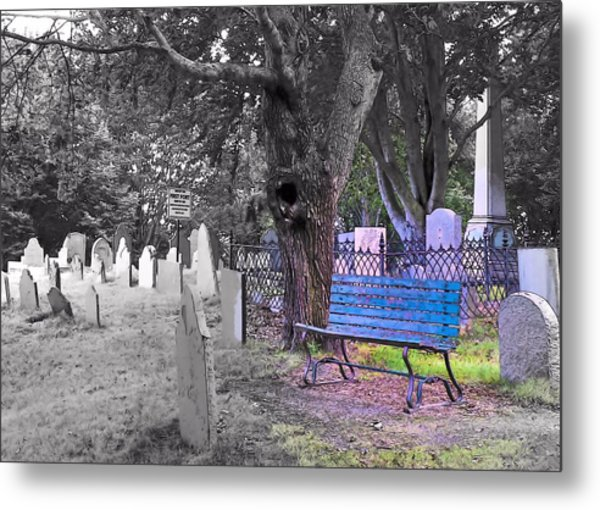 Burial Hill  Metal Print by Janice Drew