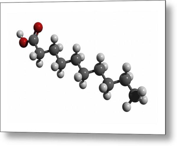 Capric Acid Molecule Metal Print by Friedrich Saurer