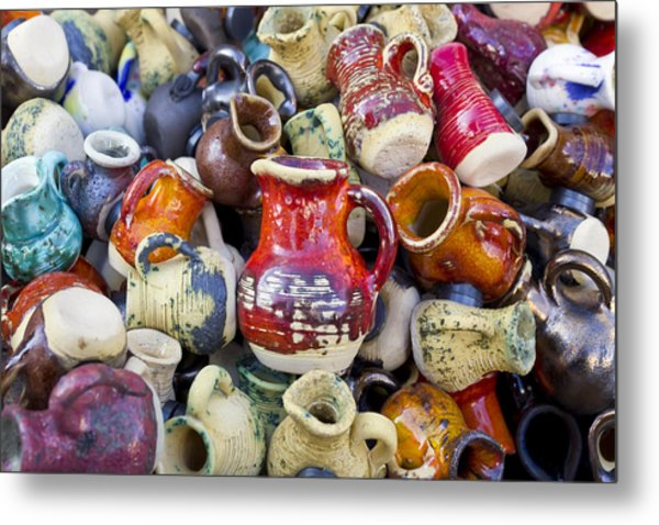Ceramic  Jugs And Cups  Metal Print