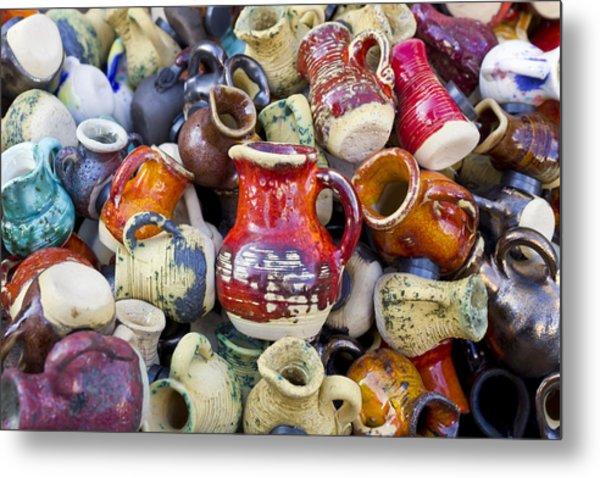 Ceramic  Jugs And Cups  Metal Print