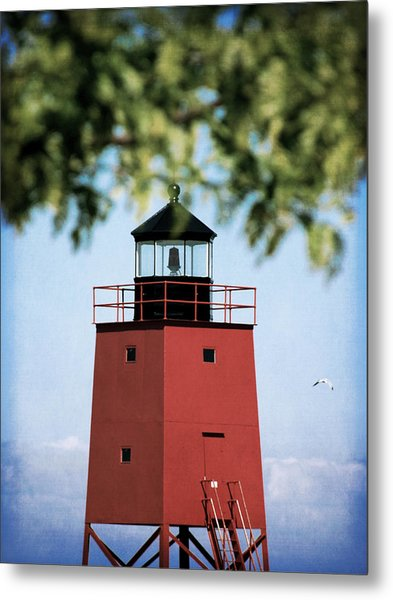 Charlevoix South Pier Lighthouse Metal Print by Christy Woods