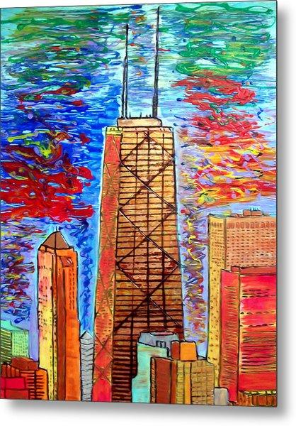 Chicago John Hancock Building Metal Print by Char Swift