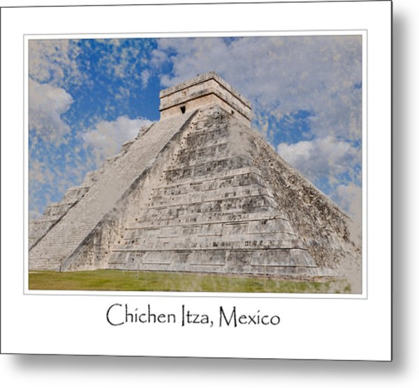 Chichen Itza Modern Seven Wonders Of The World In Mexico Metal Print