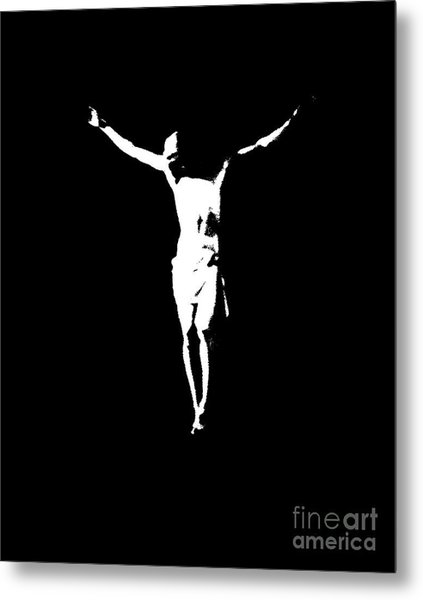 Christ In Black And White  Metal Print
