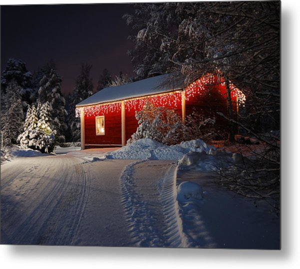 Christmas House  Metal Print by Roman Rodionov