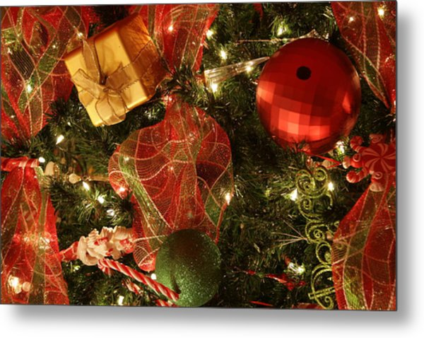 Christmas Ornaments Metal Print by Lonnie Moore