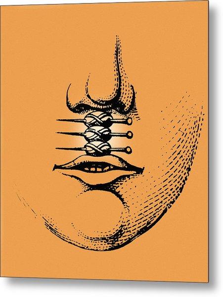 Cleft Lip Metal Print by Mehau Kulyk