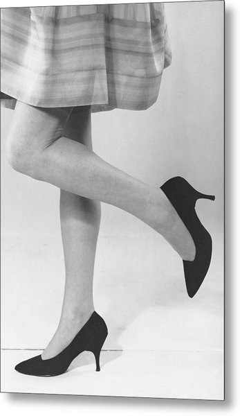 Close-up Of Woman's Legs Metal Print by George Marks