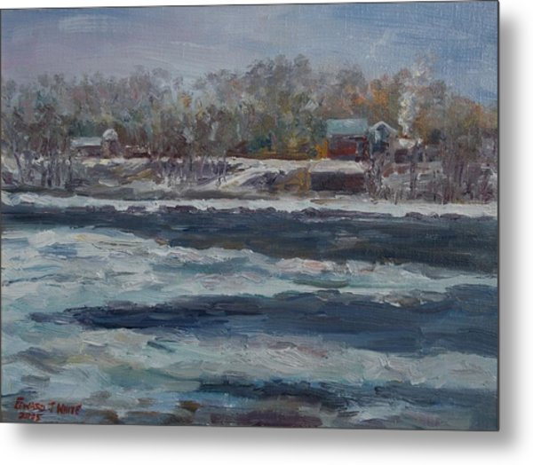 Connecticut River Thaw Metal Print