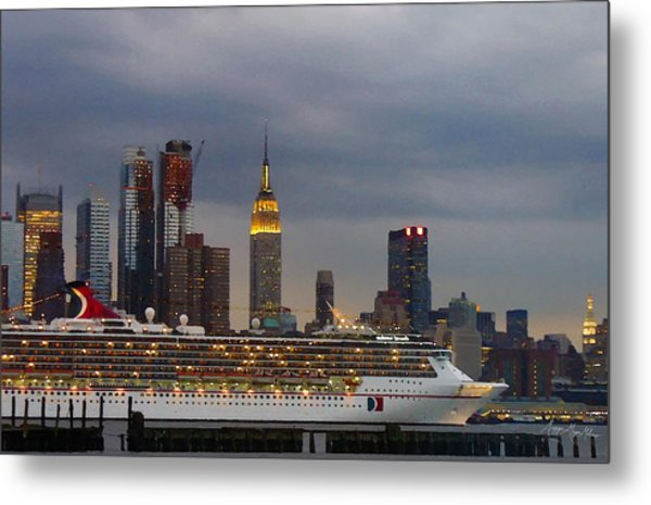 Cruisin By The City Metal Print