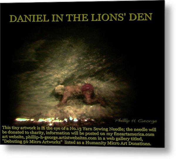 Daniel In The Lion's Den Info Photo No.1  Metal Print
