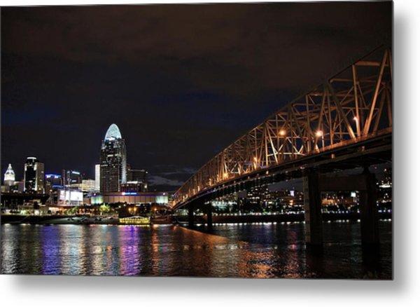 Downtown Cincinnati Metal Print by Tina Karle