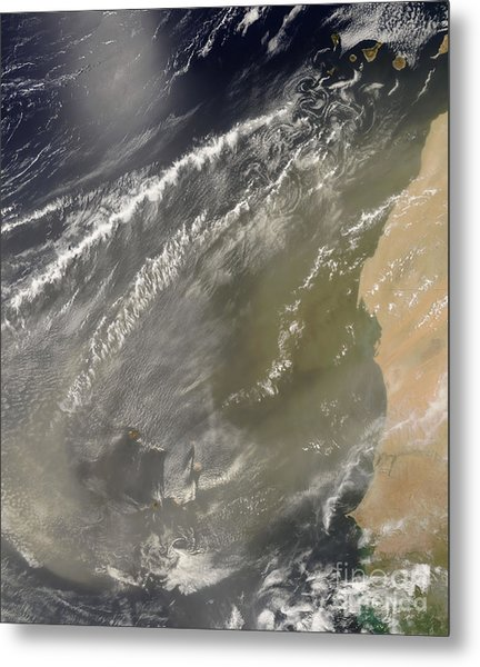 Dust Storm Off West Africa Metal Print