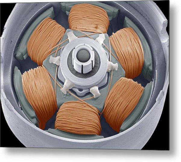 Dvd Drive Motor, Sem Metal Print by Steve Gschmeissner