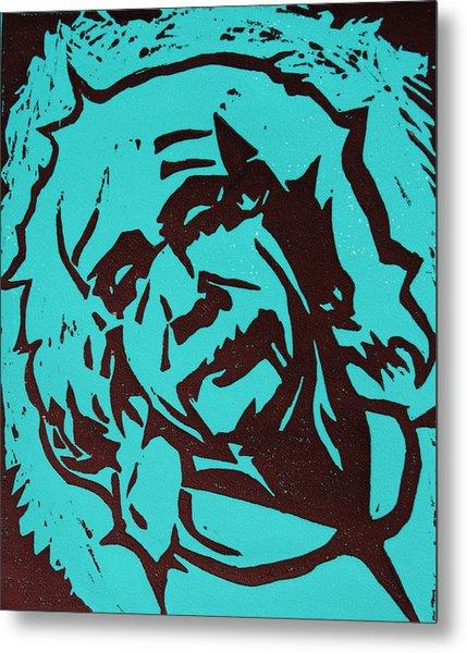 Einstein 2 Metal Print by William Cauthern