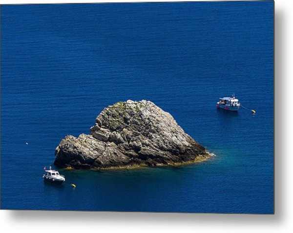 Elba Island - One Island Two Boats - Ph Enrico Pelos Metal Print