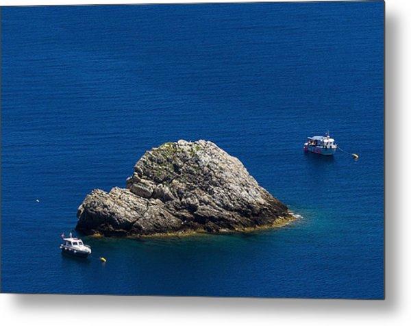 Metal Print featuring the photograph Elba Island - One Island Two Boats - Ph Enrico Pelos by Enrico Pelos