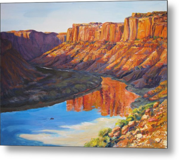 Evening Float Bowknot Bend Metal Print