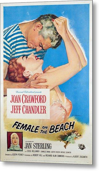Female On The Beach, Jeff Chandler Metal Print by Everett