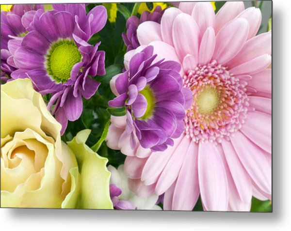 Floral Spring Background Metal Print