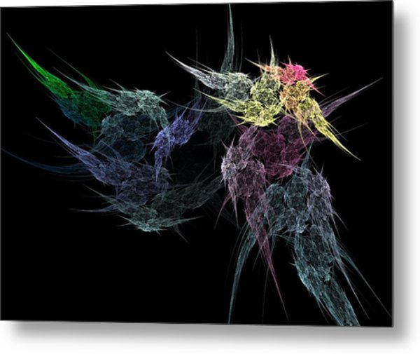 Flower In The Dark Metal Print by Michele Caporaso