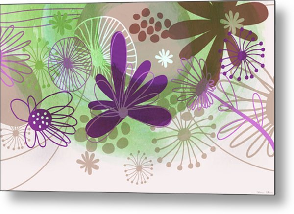 Flowers Of Nature Metal Print by Nomi Elboim