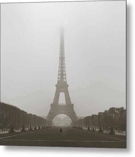 Foggy Morning In Paris Metal Print