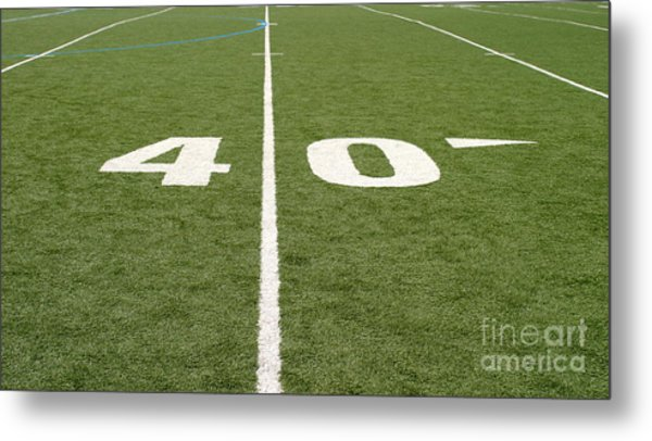 Football Field Forty Metal Print