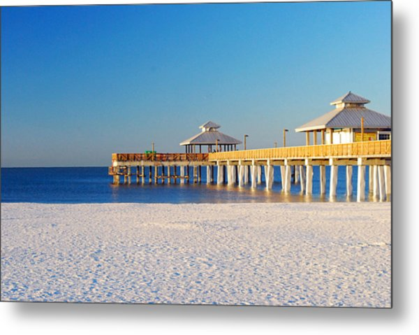 Fort Myers Beach Pier Metal Print