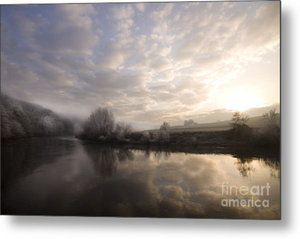 Frosty Morning Metal Print by Angel Ciesniarska
