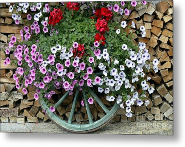 Garden Decor Metal Print