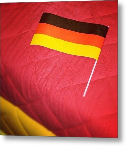 German Flag And Colors Metal Print