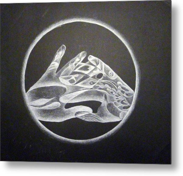 Hands Of Light Metal Print by Linda Pope