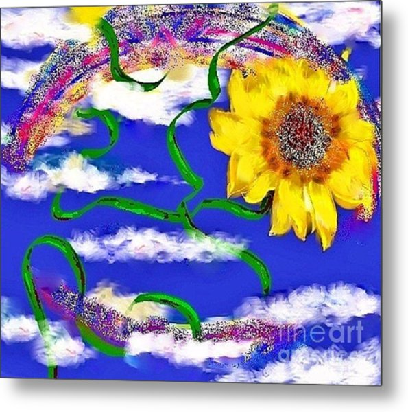 Happiness Is A Sunflower Metal Print