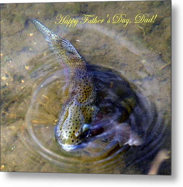 Happy Fathers Day Metal Print