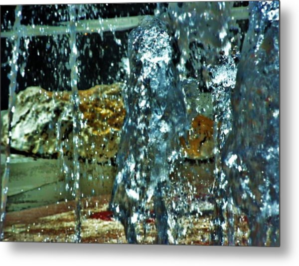 Hot Ice Metal Print by Judith  Horn