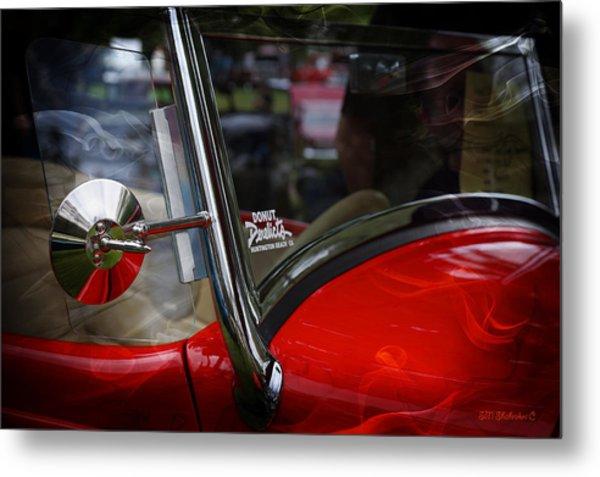 Hot Rod Red Ford Metal Print by SM Shahrokni