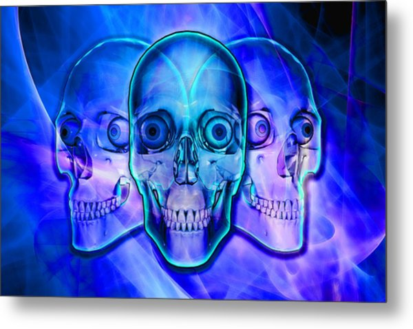 Illuminated Skulls Metal Print