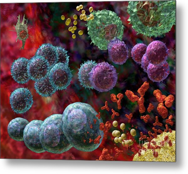 Immune Response Antibody 4 Metal Print