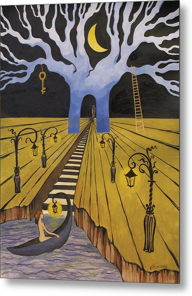 In The Maze Of Strange Dreams Metal Print