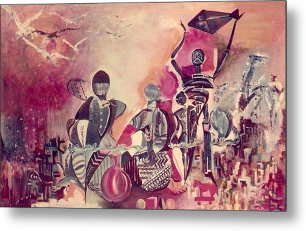 Indian Festival Metal Print by Satyajit Roy ArtDecor