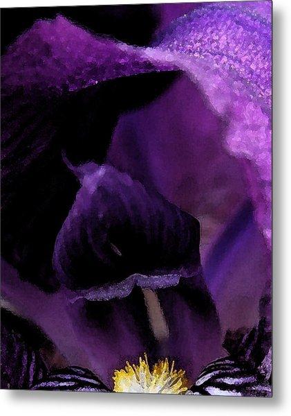 Iris Watercolor Metal Print