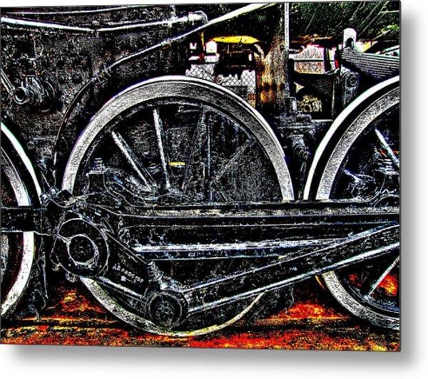 Iron Hooves Metal Print by HW Kateley