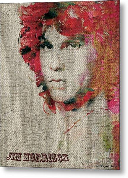 Jim Morrison Metal Print by Max Cooper