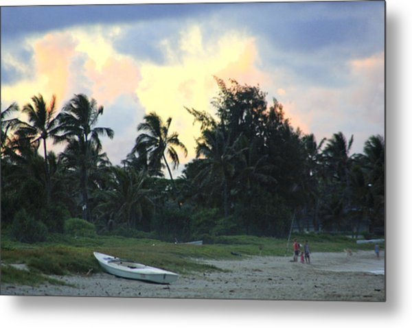 Kailua Beach Sunset Metal Print